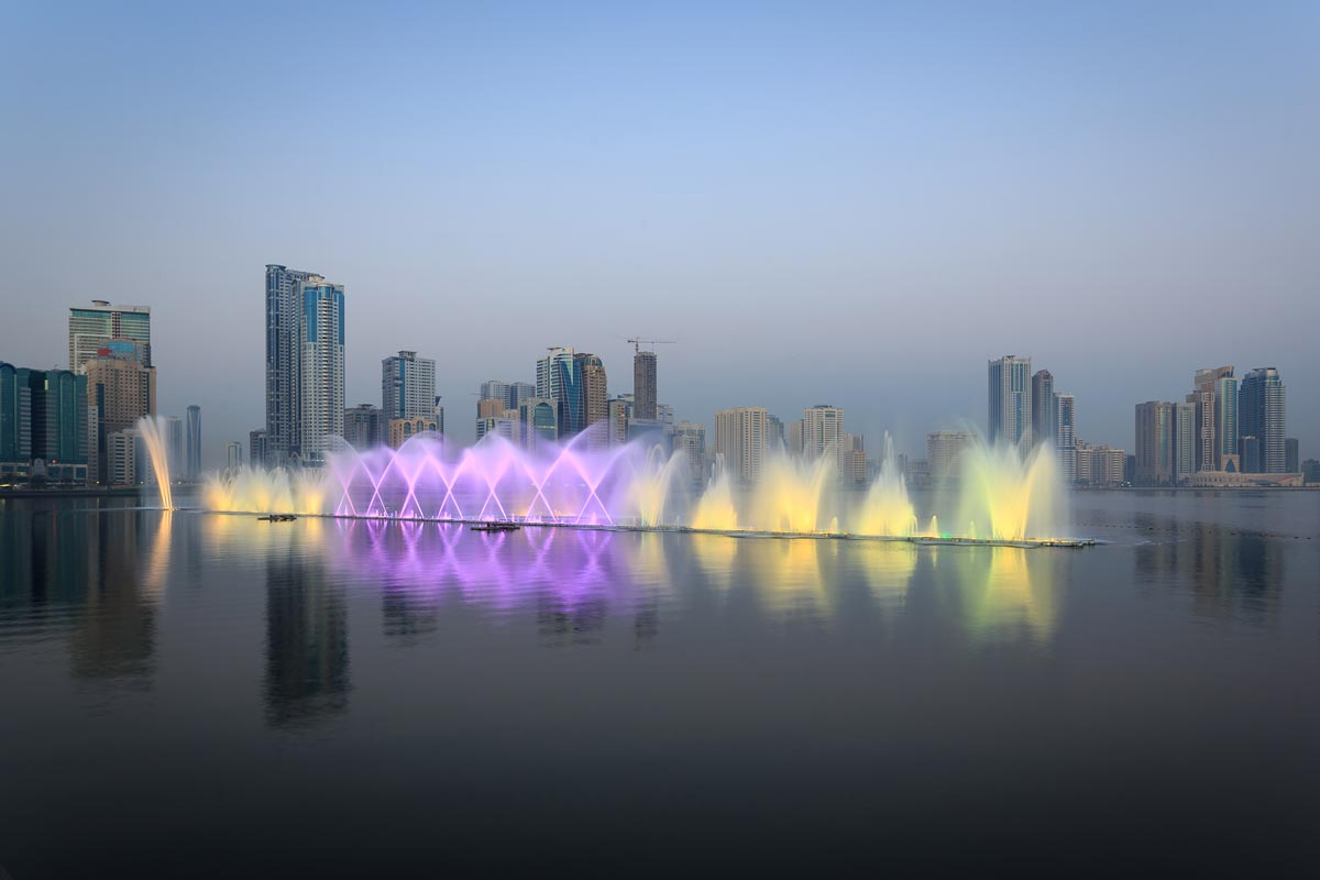 Al Majaz Waterfront Multimedia Floating Fountain