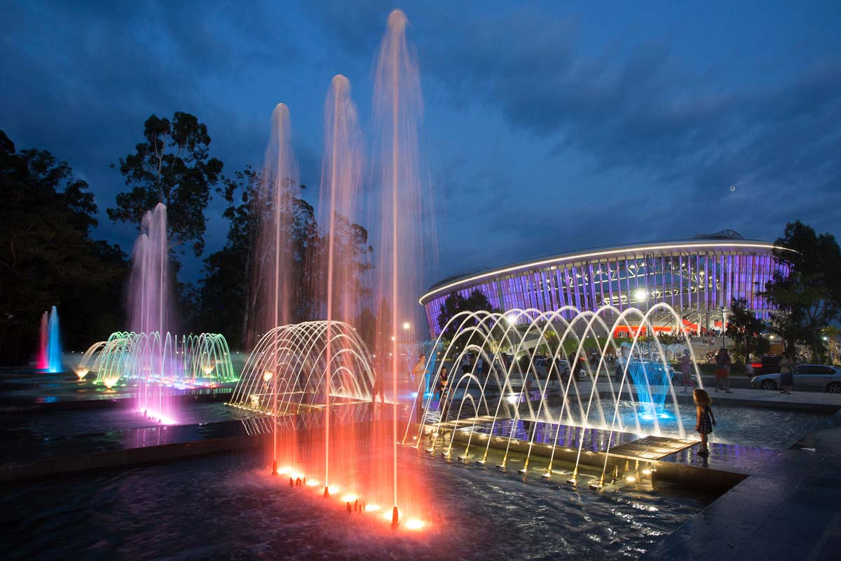 Black Sea Arena Multimedia Fountain