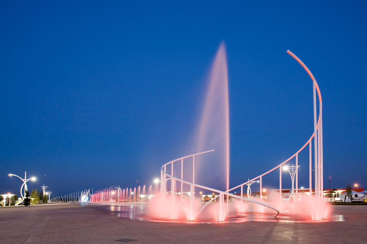 Rock in Rio Madrid Theme Park Fountain
