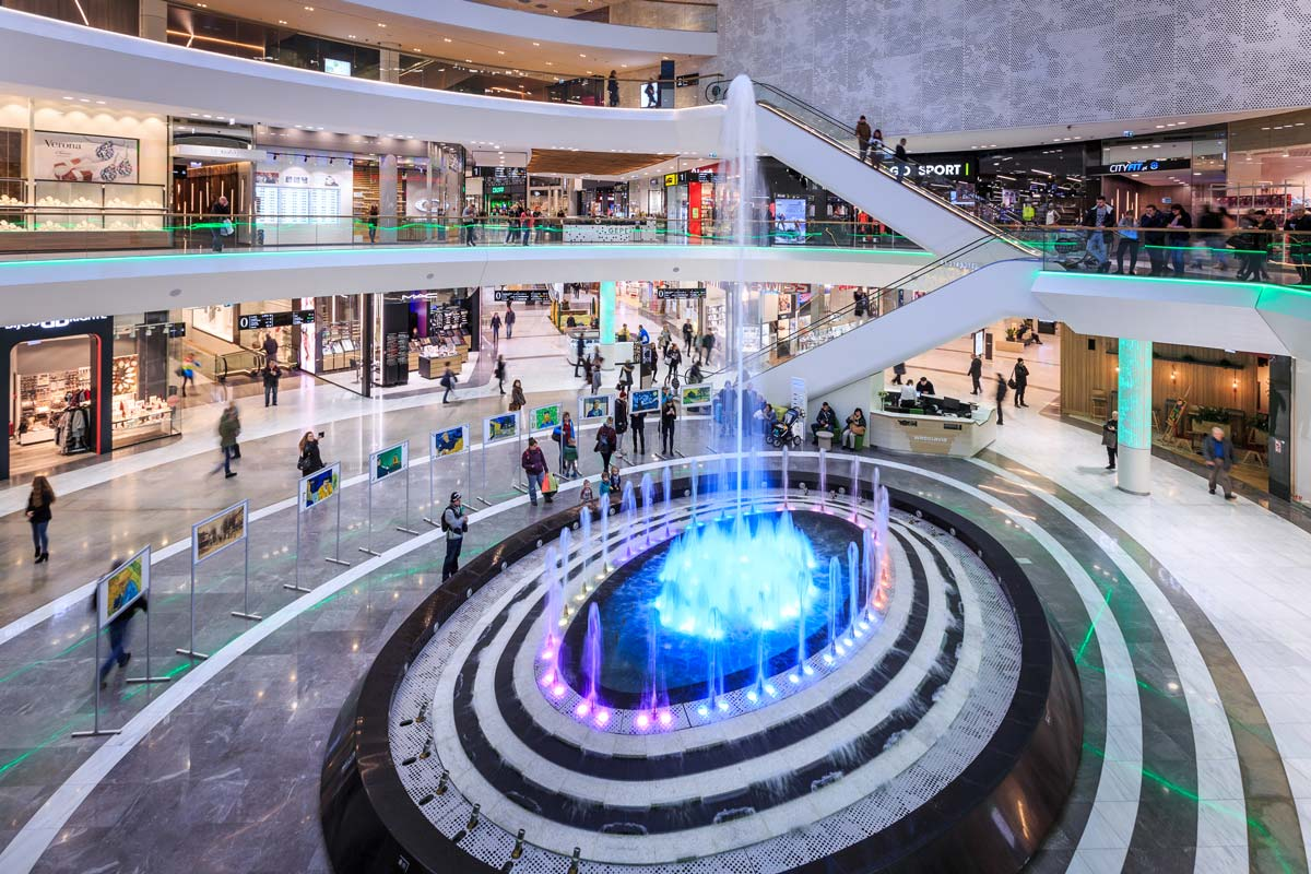 Wroclavia Shopping Mall Multimedia Fountain