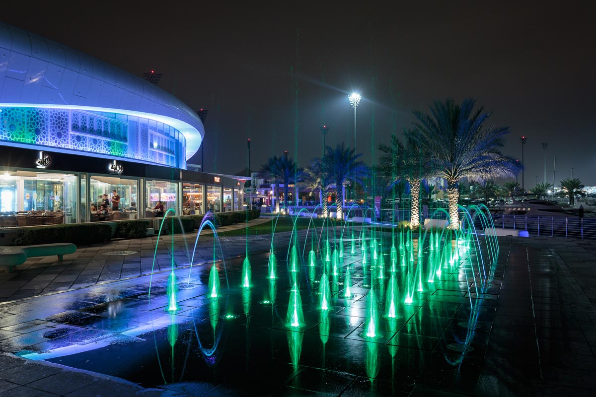 Yas Marina Walk-In Fountains