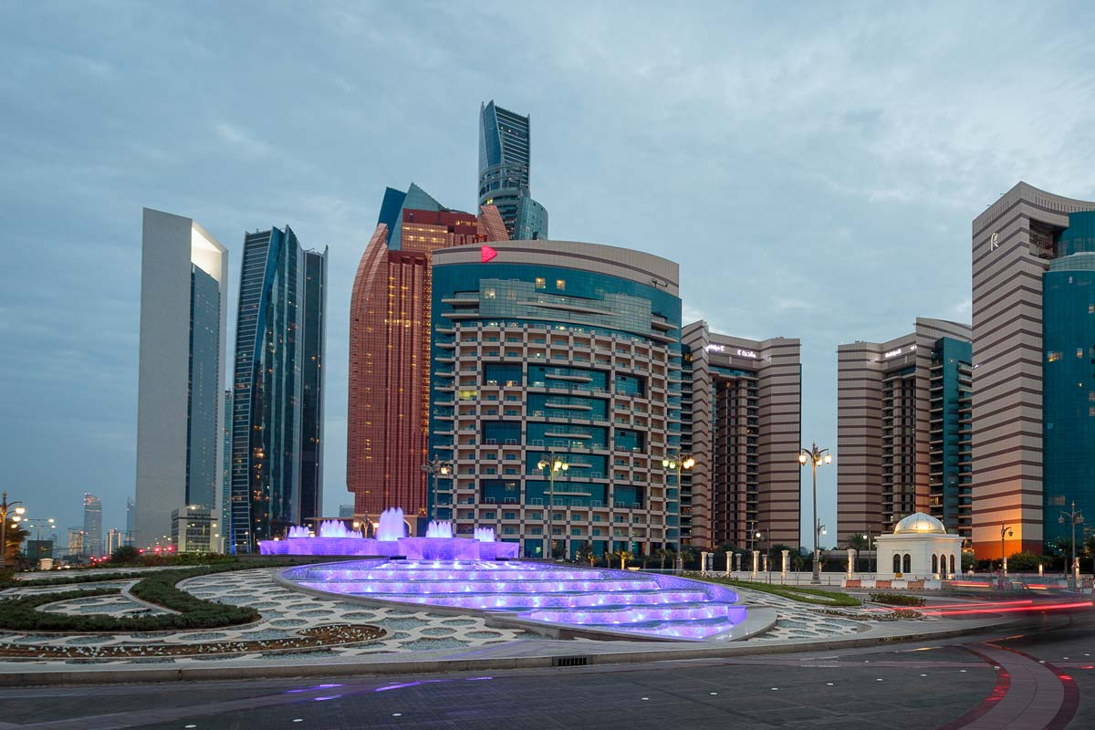 Abu Dhabi Presidential Palace Group of Fountains
